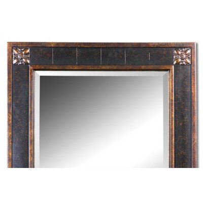 Uttermost Bergamo Rectangular Beveled Vanity Mirror in Chestnut Brown