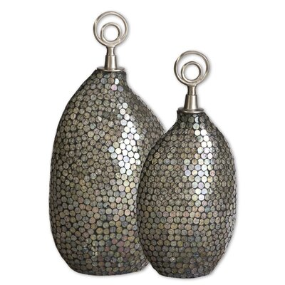 Uttermost Deshal Canisters in Silver (Set of 2)