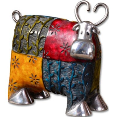 Uttermost Colorful Cows Accessories Statues in Red (Set of 3)