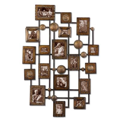 Natane Photo Frame Wall Art in Gold