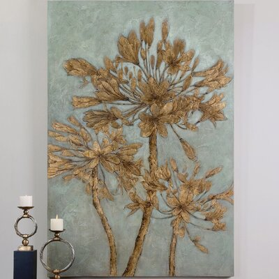 Golden Leaves Original Painting on Canvas
