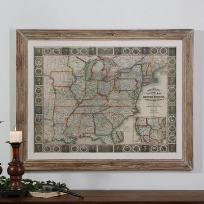 Travelers Guide to the US Framed Graphic Art