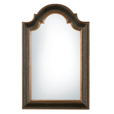 Ribbed Arch Black and Gold Wall Mirror