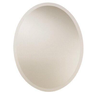 Uttermost Large Frameless Oval Wall Mirror