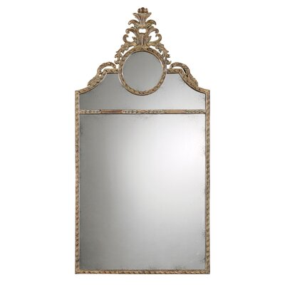 Peggy Metal Frame Mirror in Chestnut Brown
