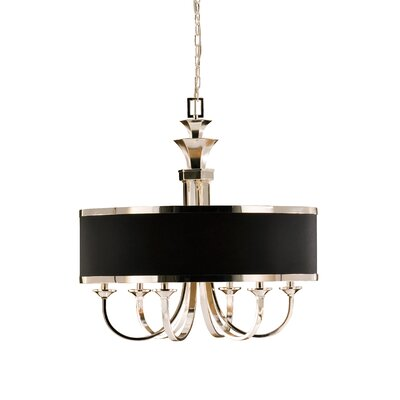 Tuxedo 6 Light Single Shade Chandelier