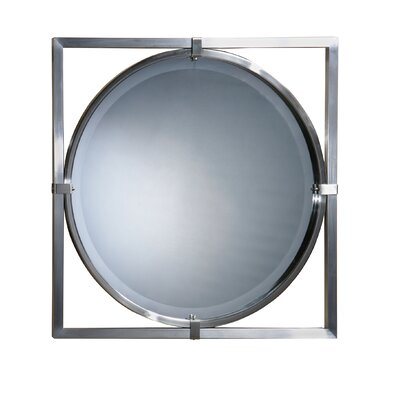 Kagami Beveled Mirror in Brushed Nickel