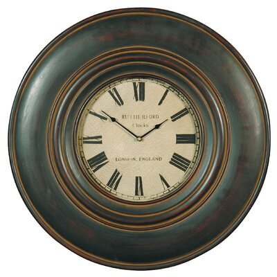 Uttermost Adonis Wall Clock in Distressed Black