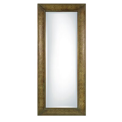 Uttermost Shayna Rectangular Beveled Mirror in Chestnut Brown