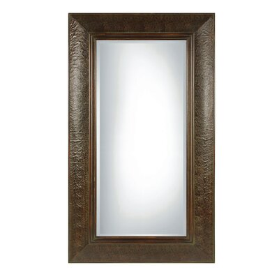 Guenevere Rectangular Beveled Mirror in Mahogany Brown