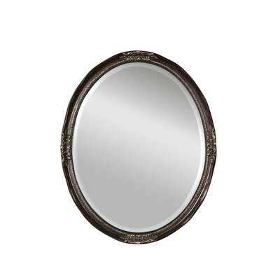Uttermost Newport Oval Beveled Mirror in Bronze
