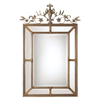 Le Vau Rectangular Beveled Mirror in Silver Leaf