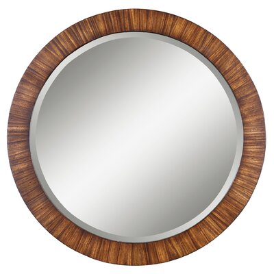 Uttermost Jules Round Mirror in Antiqued Zebrano Veneer