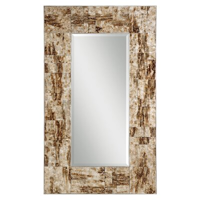 Durante Mirror in Marbleized Maple Brown