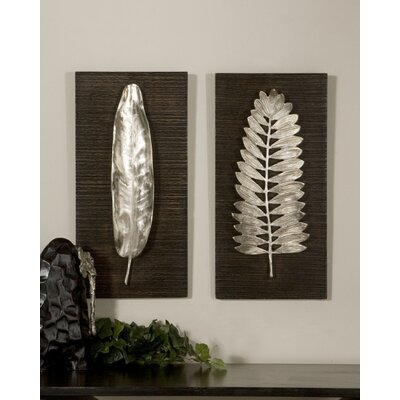 Uttermost Silver Leave Wall Plaque (Set of 2)