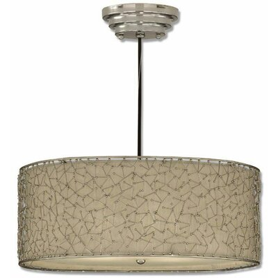 Uttermost Brandon 3 Light Drum Foyer Pendant