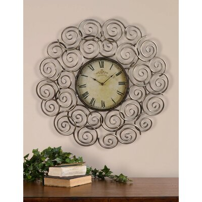 Sassetta Clock in Antique Silver Leaf