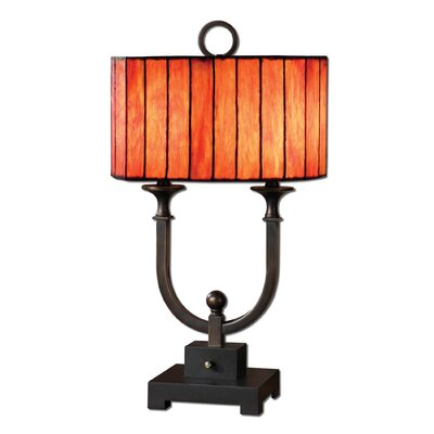 Uttermost Bellevue Two Light Table Lamp in Oil Rubbed Bronze and Rustic Black