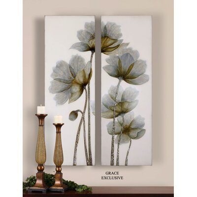 Uttermost Floral Glow Wall Art (Set of 2)