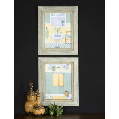 Beach Bath by Grace Feyock 2 Piece Framed Painting Print Set