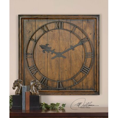 Uttermost Garrison Wall Clock in Burnished Honey Pecan