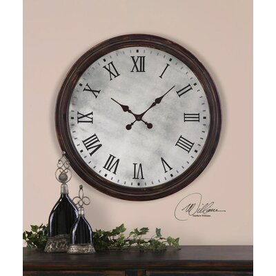 Uttermost Marshall Clock in Rustic Dark Walnut