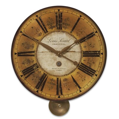Uttermost Louis Leniel Weathered Laminated Clock
