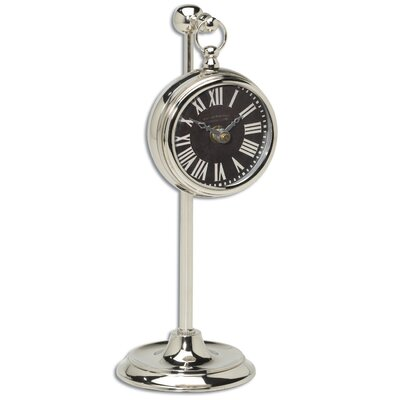 Uttermost Pocket Watch Nickel Marchant Laminated Clock