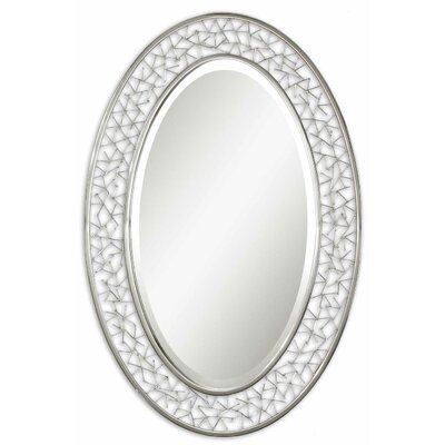 Brandon Oval Beveled Mirror in Nickel