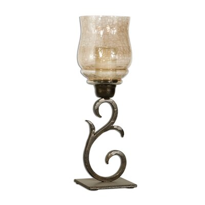 Uttermost Sorel Iron and Glass Hurricane (Set of 2)