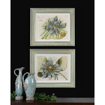 Blue Lotus Flower Wall Art By Grace Feyock - 23.625
