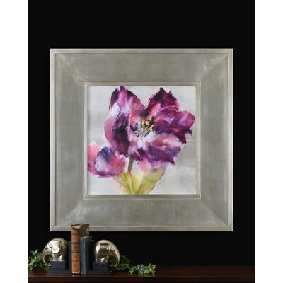 "Uttermost Purple Fluorish Wall Art By Grace Feyock - 44.875"" x 44.875"""