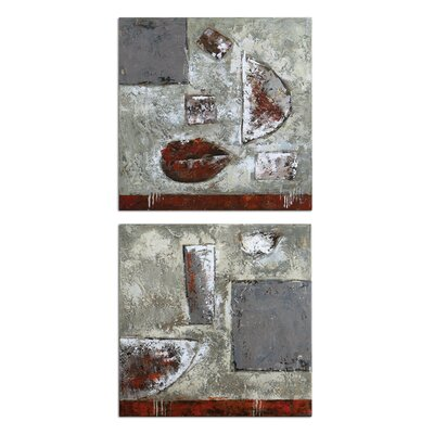 "Uttermost Containers Canvas Wall Art By Carolyn Kinder - 24"" x 24"" (Set of 2)"