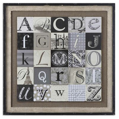 "Uttermost Designing Alphabet by Grace Feyock  Wall Art - 36""x36"""