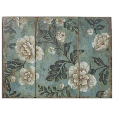 Peach And Aqua Floral by Grace Feyock Wall Art - 30