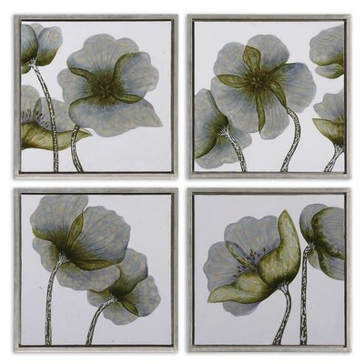 4 Piece Mini Floral Glow by Grace Feyock Wall Art Set - 22