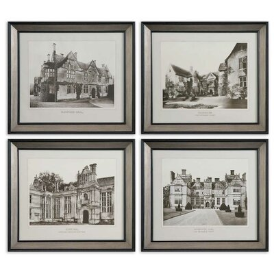 4 Piece English Cottage by Grace Feyock Wall Art Set - 24.625