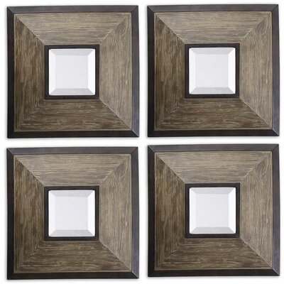 Uttermost Fendrel Squares Mirrors (Set of 4)