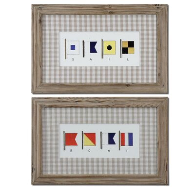 Signal Flags by Grace Feyock 2 Piece Framed Painting Print Set