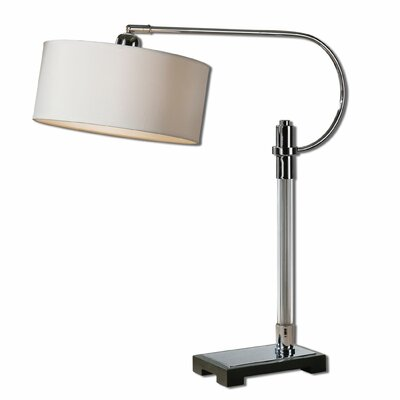 Uttermost Adara Glass & Chrome Desk Lamp