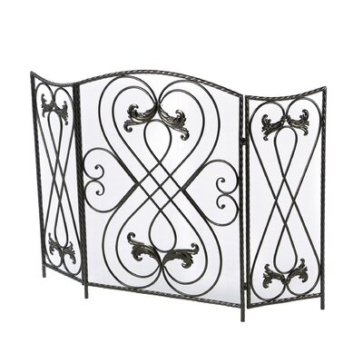 Effie 3 Panel Metal Fireplace Screen