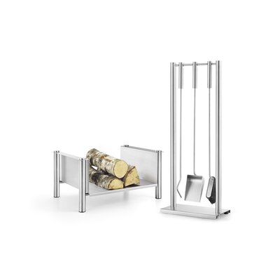 ZACK Ghio 3 Piece Stainless Steel Fireplace Tool Set