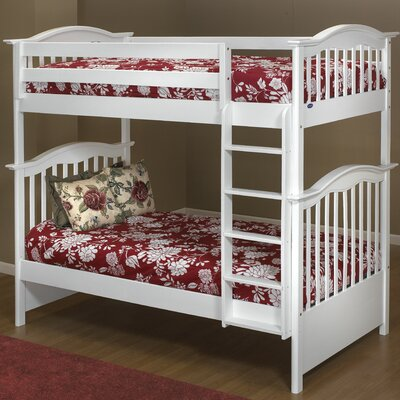 Orbelle Trading Twin over Twin Bunk Bed with Built-In Ladder