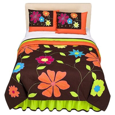 <strong>Bacati</strong> Valley of Flowers Comforter Set