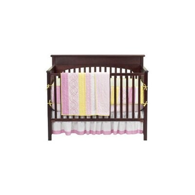 Bacati Girls Stripes and Plaids 4 Piece Crib Bedding Set