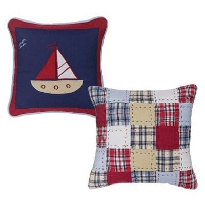 Bacati Boys Stripes and Plaids Decorative Pillow (Set of 2)