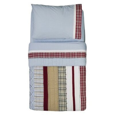 Bacati Boys Stripes and Plaids 4 Piece Toddler Bedding Set