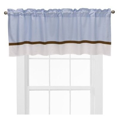 Bacati Metro Valance in Blue and Chocolate