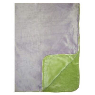 Bacati Flower Basket Two Layer Velor Plush Blanket
