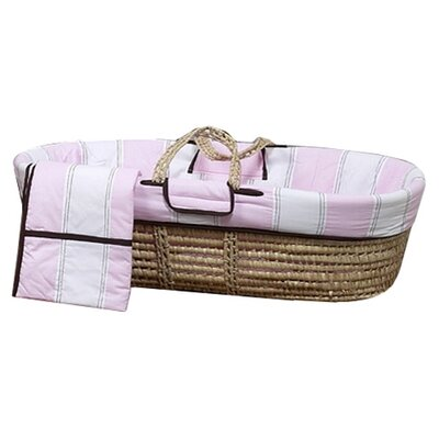 Bacati Quilted Circles Moses Basket